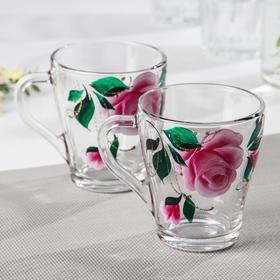 Набор кружек GiDGLASS «Розовые лепестки», 250 мл, 2 шт, в подарочной упаковке