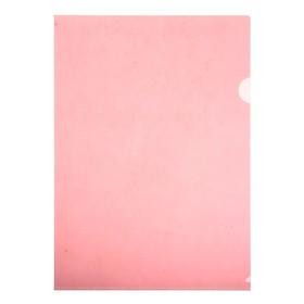 Папка-уголок A4, 100мкм прозрачная, тиснение, красная Ош