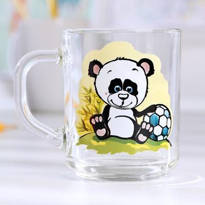 Кружка «Весёлые зверюшки. Панда», 200 мл - Фото 1