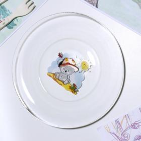 Тарелка GiDGLASS «Весёлые зверюшки», d=19,5 см, МИКС