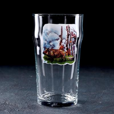 Бокал для пива «Охота-рыбалка», 570 мл, МИКС - Фото 1