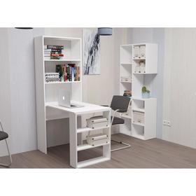 Компьютерный стол со стеллажем Элемент-3  Белый Ош