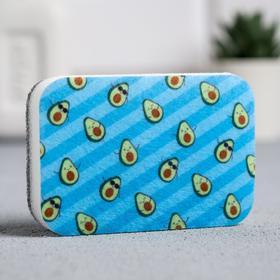 Губка для мытья посуды Avocado style 9х6 см