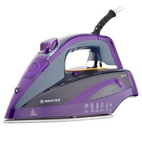 Утюг BRAYER 4001BR, 2600 Вт, керамическая подошва, 25 г/мин, 360 мл, фиолетовый