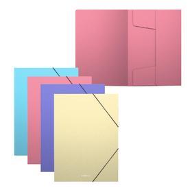 Папка на резинках А5+ ErichKrause Matt Pastel, пласт, д/тетр, микс 4В 50401 Ош