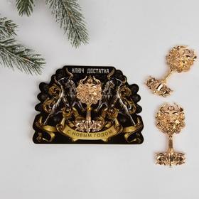 Сувенирный ключ на открытке «Достатка», 7 х 10 см