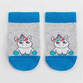 Носки детские, цвет серый меланж, размер 10