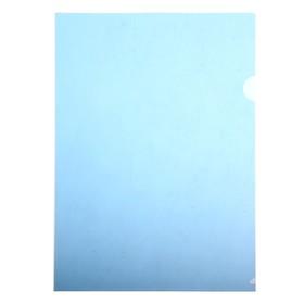 Папка-уголок A4, 150мкм прозрачная, синяя Ош