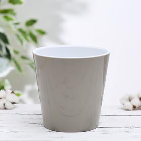 Кашпо со вставкой Алеана «Деко», 1,8 л, цвет какао-белый