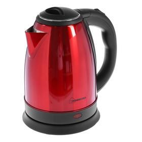 Чайник электрический HOMESTAR HS-1010, металл, 1.8 л, 1500 Вт, красный Ош