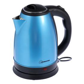 Чайник электрический HOMESTAR HS-1010, металл, 1.8 л, 1500 Вт, синий Ош