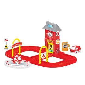 Игровой набор, пожарная станция с круговой дорогой