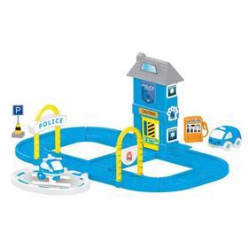 Игровой набор, полицейская станция с круговой дорогой