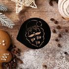 Трафарет для кофе «Дед Мороз», 9,5 ? 8,5 см