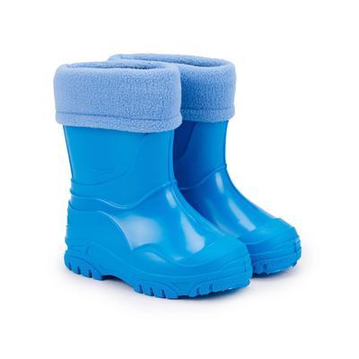 Сапоги детские из ПВХ, цвет голубой, размер 23 - Фото 1