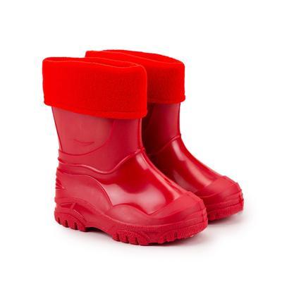 Сапоги детские из ПВХ, цвет красный, размер 23 - Фото 1