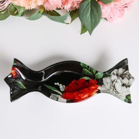 "Тарелочка ""Цветы"", 17,2 х 7,5 см"