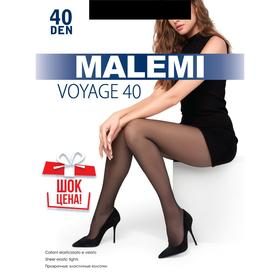 Колготки женские MALEMI Voyage 40 цвет чёрный (nero), р-р 3