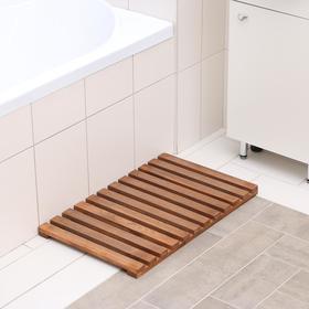 Решётка в ванную комнату под ноги 70×42×3 см, сосна с покрытием Ош