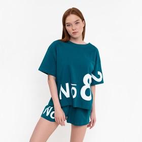 Комплект женский (футболка, шорты), цвет микс, размер 44