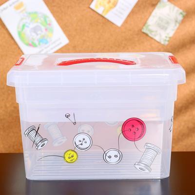 Контейнер-органайзер с крышкой «Хобби Handmade», 5 л, 25×20×16 см, лоток органайзер S, цвет прозрачный
