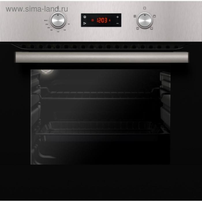 Духовой шкаф Kuche ESM KI 65 BS, электрический, 62 л, 4 режима, дисплей, чёрно-серебристый