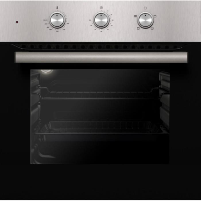 Духовой шкаф Kuche EMM KI 65 BS, электрический, 62 л, 4 режима, конвекция, чёрно-серебристый