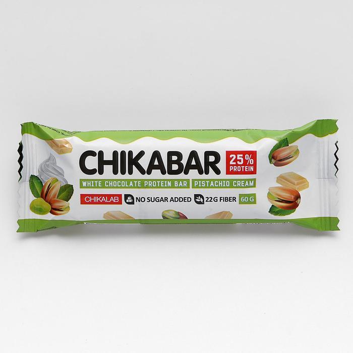 Батончик в шоколаде, CHIKALAB, Фисташковый крем, 60 г