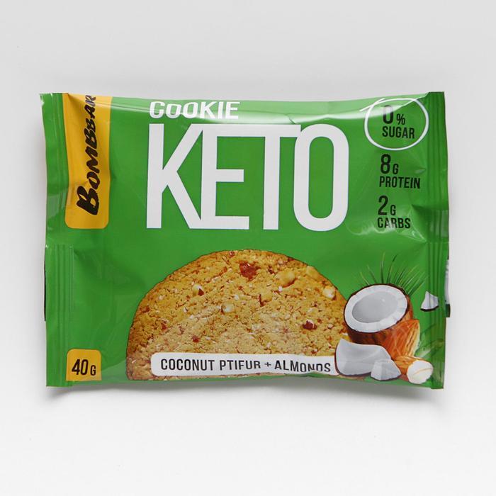 Печенье «КЕТО», кокосовый птифура и миндаль, 40 г