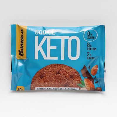 Печенье «КЕТО», шоколадный крем с миндалём, 40 г - Фото 1