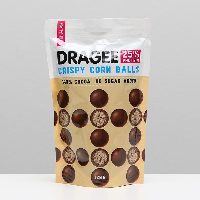 CHIKALAB, Драже, шарики кукурузные в шоколаде, 120 г