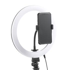 Кольцевая лампа OKIRA LED RING 160, 20 Вт, 160 светодиодов, d=30 см, + штатив, чёрная Ош