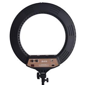 Кольцевая лампа OKIRA LED RING ZBR 480, 60 Вт, 480 диодов, d= 45 см, чёрная