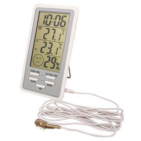 Термогигрометр цифровой со встроенными часами и будильником Ош