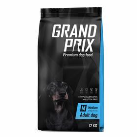 Сухой корм GRAND PRIX для собак средних пород , с курицей, 12 кг