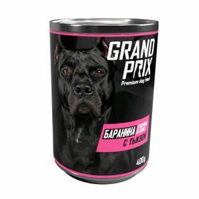 Влажный корм GRAND PRIX для собак, аппетитные кусочки в соусе баранина с тыквой, 400 г