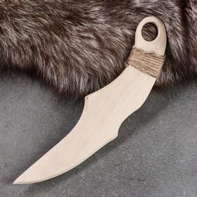 """Сувенирное деревянное оружие """"Нож"""", 24 см, массив бука"""