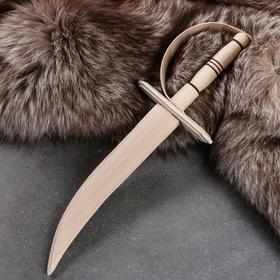 """Сувенирное деревянное оружие """"Сабля"""", 35 см, массив бука"""