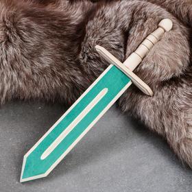 """Сувенирное деревянное оружие """"Меч"""", 35 см, массив бука, микс"""