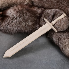 """Сувенирное деревянное оружие """"Меч"""", 46 см, массив бука"""