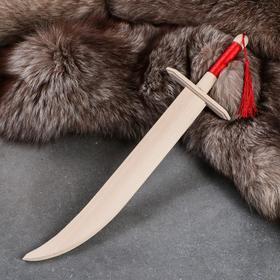 """Сувенирное деревянное оружие """"Сабля казака"""" с ленточкой, 46 см, массив бука"""