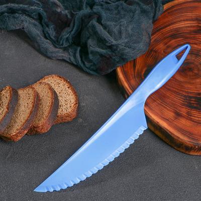 Нож пластиковый, для хлеба и масла, 30 см, микс - Фото 1