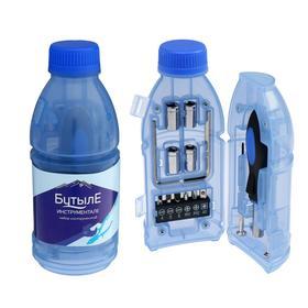 Набор инструментов TUNDRA, подарочный пластиковый кейс 'Бутылка', 15 предметов Ош