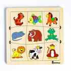 Пазл-ассоциации «Животные», 9 карточек, 21×21×0.6 cм - Фото 1