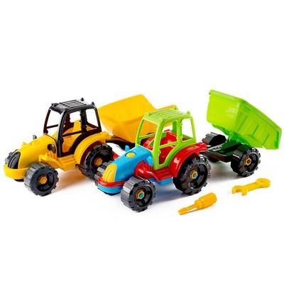 Игрушка «Конструктор-трактор с прицепом» - Фото 1