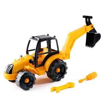 Игрушка «Конструктор-трактор экскаватор» - Фото 1
