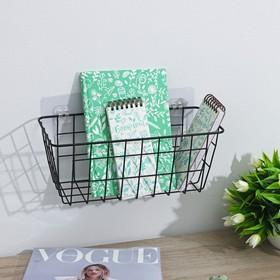 Корзина для мелочей Доляна, 29×11,5×13 см, цвет чёрный