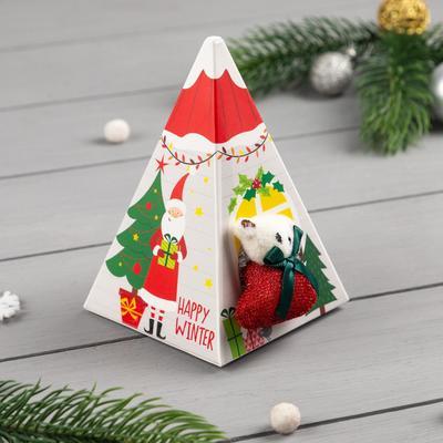 """Носки махровые в подарочной коробке """"Новогодний подарок"""", 12-22 см"""