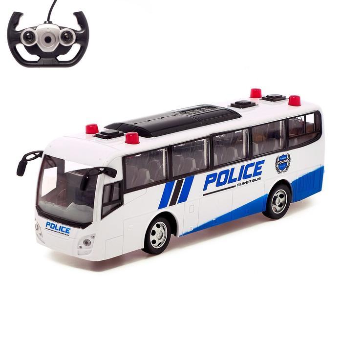 Автобус радиоуправляемый «Полиция», работает от аккумулятора