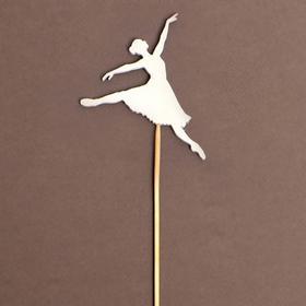 Топпер деревянный «Балерина», белый